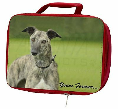 Greyhound Dog 'Yours Forever' Insulated Red School Lunch Box/Picnic , AD-LU7yLBR
