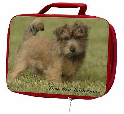 Norwich Norfolk Terrier 'Grandma' Insulated Red Lunch Box, AD-NT1lygLBR