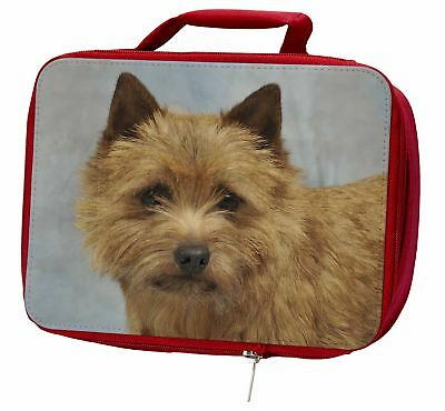 Norfolk-Norwich Terrier Dog Insulated Red Lunch Box, AD-NT2LBR