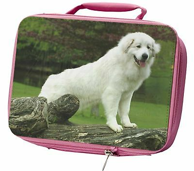 Pyrenean Mountain Dog Insulated Pink School Lunch Box Bag, AD-PM1LBP