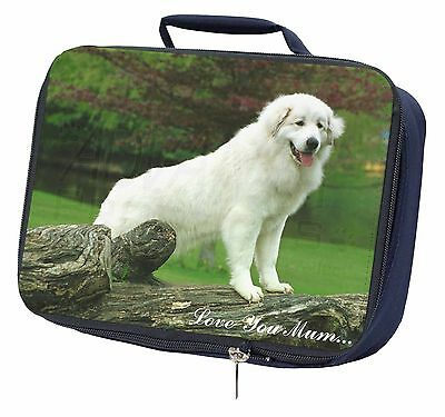 Pyrenean Mountain Dog 'Love You Mum' Navy Insulated Lunch Box, AD-PM1lymLBN