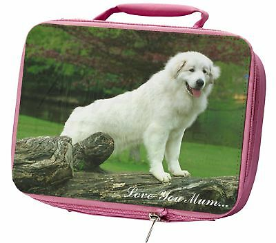 Pyrenean Mountain Dog 'Love You Mum' Insulated Pink School Lunch B, AD-PM1lymLBP