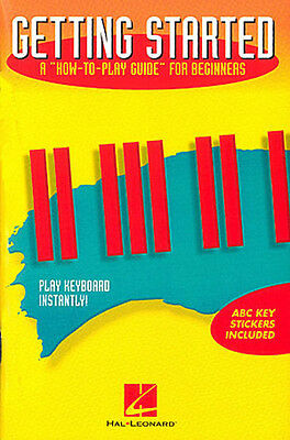 Getting Started Easy Electronic Keyboard Piano Lessons Book & ABC Stickers NEW