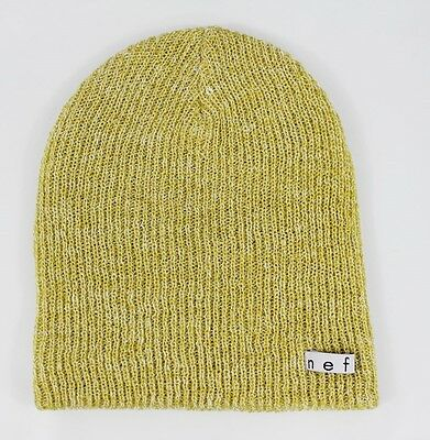 861a070e699 New Without Tags NEFF Daily Heather Beanie Goldenrod White