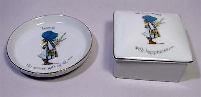 HOLLY HOBBIE Lidded Pin Dish & Plate - Porcelain