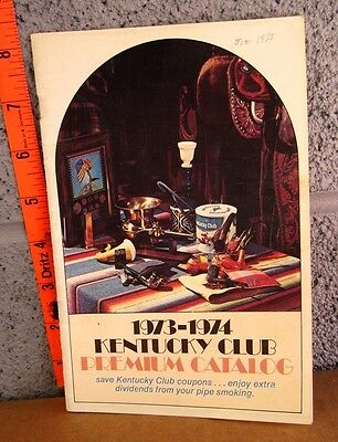 KENTUCKY CLUB Premium Catalog 1973-74 Pipe Tobacco collectible Hurricane smoking