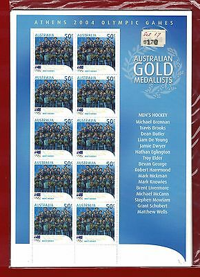 2004 Australia Athens Gold Winners SG 2406/22 Sheetlets of 10 Set of 17
