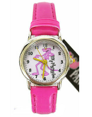 Brand New Pink Panther Wrist Watch ~ leather band # dancing