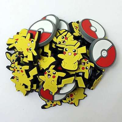 50pcs/Lot Pokemon Pikachu PVC Shoe Charms/Decoration Fit Croc/Jibbitz/Bracelets