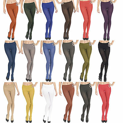 100 Denier Tights Women Ladies Opaque Extra Soft Sizes S M L XL