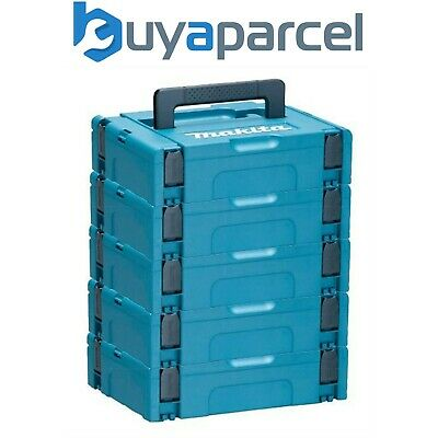Makita MAKPAC Pack of 5 x Stacking Connector Tool Cases Type 1 396 x 296 x 105