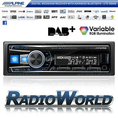 Alpine UTE-93DAB Car Stereo Headunit Radio Bluetooth DAB FM USB MP3 AUX iPod