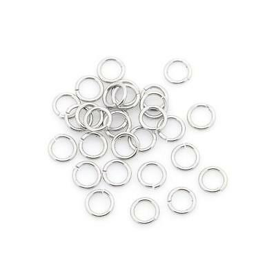 Packet 110+ Silver 304 Stainless Steel Round Open Jump Rings 0.5 x 4mm Y01195
