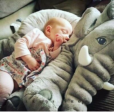 60cm Infant Soft Appease Playmate Calm Doll Stuffed Elephant Pillow Plush Toys
