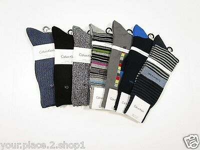 Calvin Klein Luxurious, Combed, & Cotton Rich Men's Sock, 7 Sock Lot $90