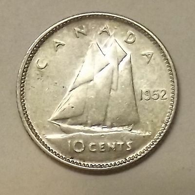 1952 Canada Ten Cents Silver Coin (Lot #2)