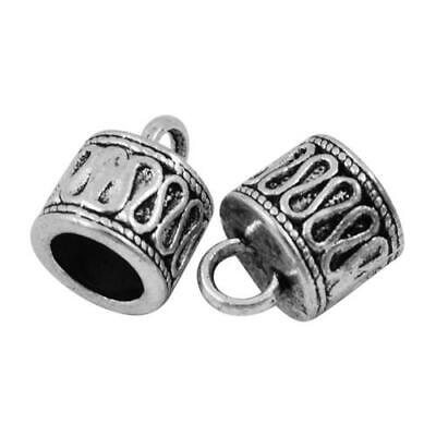 Pack Of 10 x Antique Tibetan Silver 8mm Kumihimo Patterned End Caps HA06910