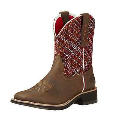 10018670 Ariat Rosie Fatbaby Western Cowgirl Boot Sunset Brown Square Toe NEW