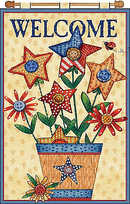 Jeweled Banner Kit ~ Design Works USA Patriotic Welcome Flower Bouquet #DW9657