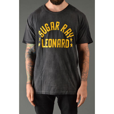 Roots of Fight Sugar Ray Leonard T-Shirt - Vintage Black