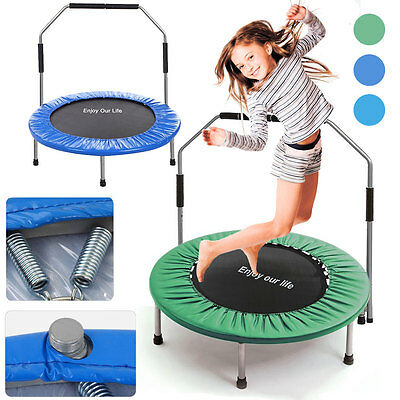 Sports Mini Trampoline Jumper Fitness Exercise Handle Kids Children In/outdoor