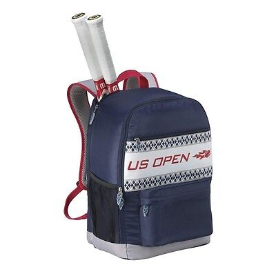 Wilson US Open Tennis Backpack, Holds 2 Racquets (Blue and Red)