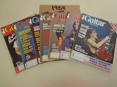 Guitar Player Magazines (7 Issues) 1984 Angus Young Talking Heads David Gilmour