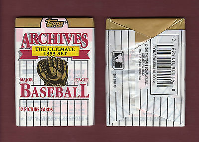 Factory-Sealed 1953 TOPPS BASEBALL ARCHIVES Pack (12 cards per pack) FUN TIME!