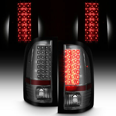 Smoked 2007-2013 Silverado LED Tail Lights Lamps Left+Right Aftermarket 07-13