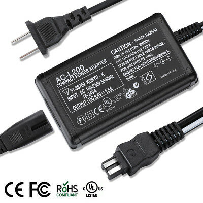 AC Adapter Charger & US Power Cord for SONY Handycam DCR-SR68 SR88 HDR-PJ50 Cam