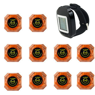 Wireless Calling System Remote Waiter Calling Pager Call Transmitters 433.92MHz