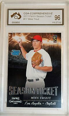 2011 Panini Mike Trout Rookie Card Graded Pristine