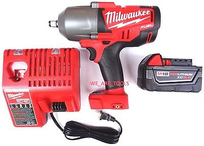 Milwaukee FUEL 2763-20 18V 1/2 Impact Wrench,1) 48-11-1850 5.0 Battery,1 Charger