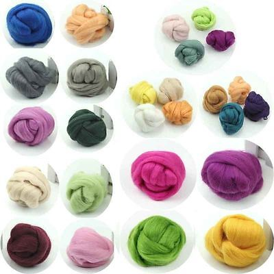 Crafts Wool Corriedale Needlefelting Top Roving Dyed Spinning Wet Felting Fiber