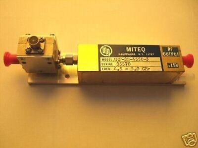 MITEQ AMF-3S-4550-3 Amplifier 4.5-5.0 Ghz NEW