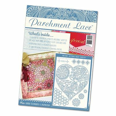 The Tattered Lace Parchment Lace Magazine Issue 04 + Butterfly Heart Grid