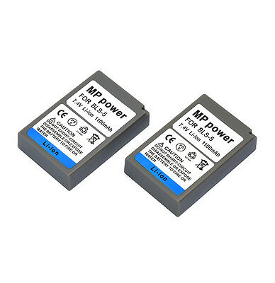 2x Replacement Battery BLS-5 1100mah for Olympus PS-BLS5 E-P3 E-PL7 OM-D E-M10