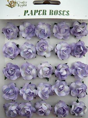 Adhesive Mauve Paper Roses Flowers Card Making NEW