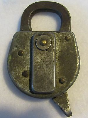 Antique Vintage Fraim Padlock Lock No Key