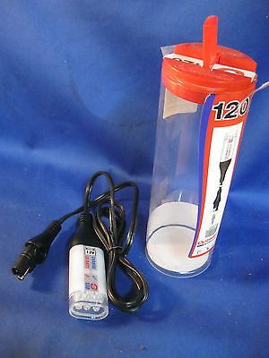 Optimate 6-LED flashlight quick disconnect emergency 12v with battery tester
