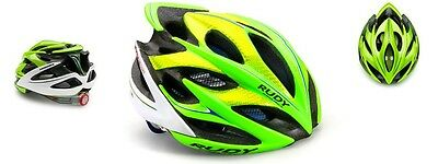 Casco Bici RUDY PROJECT WINDMAX Lime/Blue/White Fluo Shiny/HELMET WINDMAX LIME/B