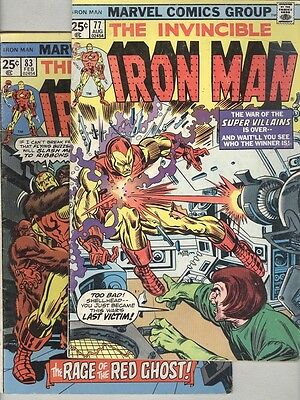 Invincible Iron Man #77 and #83 G/VG