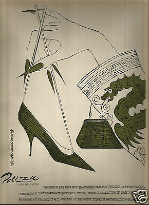 60's Andy Warhol Illustrated Palizzio Shoe Advertisement 1964