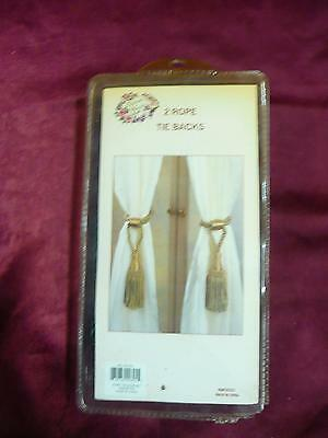 NOS Victorian Classics 2 rope tie backs RN# 102223 in package never opened home