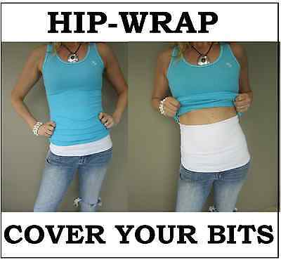"NEW Ladies ""Hip-Wrap"" Extends Top, Add Colour Covers, Tummy Slimmer Bra, Lowrise"