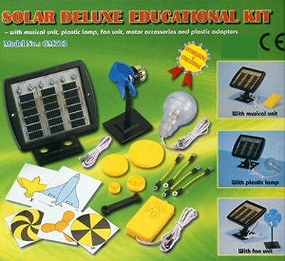 *NEW IN BOX* Deluxe Solar Power Junior Educational Science Kit for Children