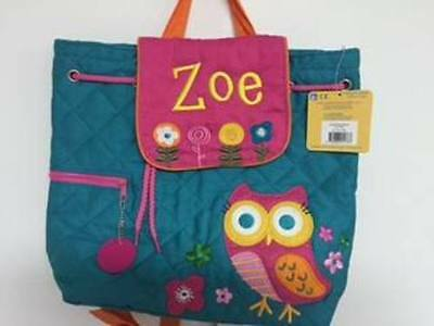 Personalized Stephen Joseph Owl Quilted Backpack NEW