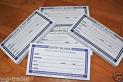 lot of 200 contest entry blank paper forms pad drawing prize raffle