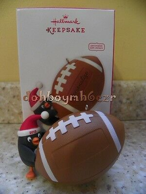 Hallmark 2013 Football Star Penguin Personalize Christmas Ornament