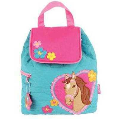 Personalized Stephen Joseph Horse Quilted Backpack NEW